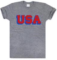 Adult Charlie Hustle USA Block T-Shirt