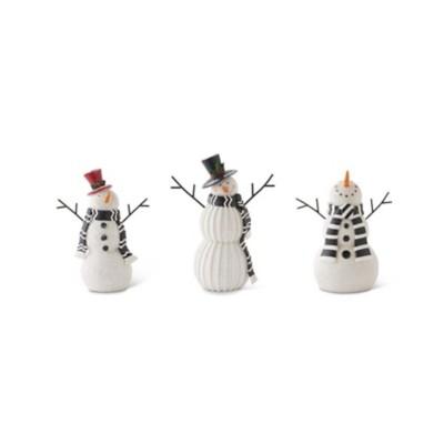 K K Interiors Resin Medium Snowmen
