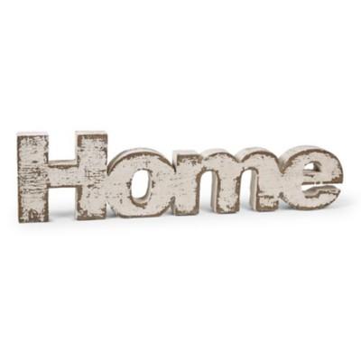 K & K Interiors Wooden White Wash Home Sign