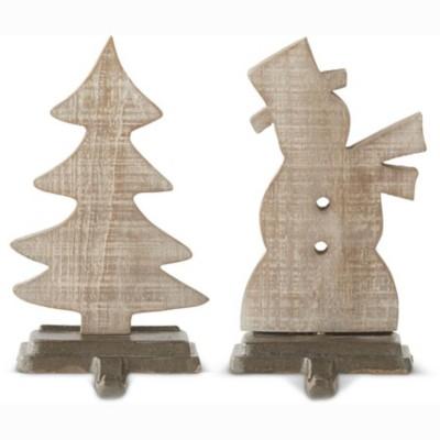 K & K Interiors Assorted Wooden Stocking Holder