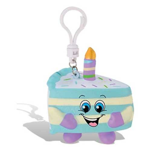 Whiffer Squisher Birthday Cake Jake Scented Backpack Clip