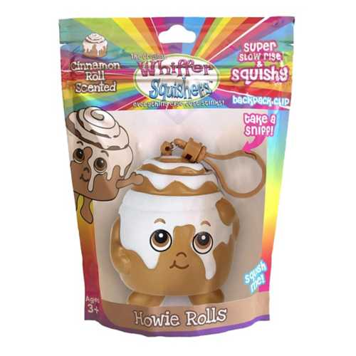 Whiffer Squishers Howie Rolls Slow Rising Squishy Toy Cinnamon Roll Scented Backpack Clip