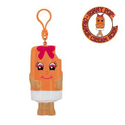 Whiffer Squishers Sunny  Orange Creamsicle Scented Backpack Clip