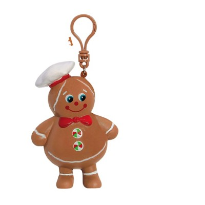 Whiffer Squishers Doughy Dave Gingerbread Scented Backpack Clip