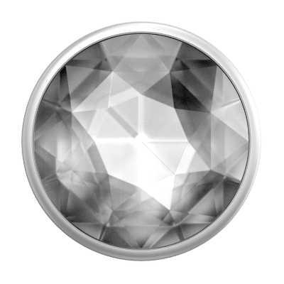Pop Socket Disco Crystal Silver