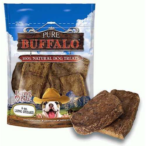 Loving Pets Pure Buffalo Lung Steak Dog Treats