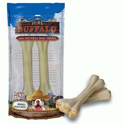 Loving Pets Pure Buffalo Pressed Bully Bone Dog Treats