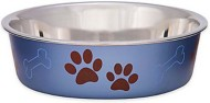 Loving Pets Metallic Blueberry Bella Bowls Dog Bowl