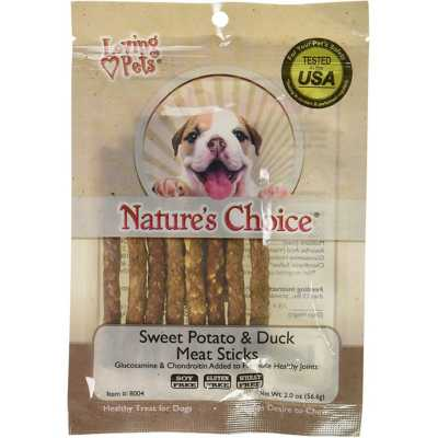 Nature's Choice Sweet Potato and Duck Meat Sticks Dog Treats