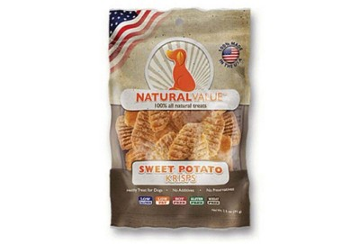 Natural Value Sweet Potato Krisps Dog Treats