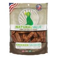 Natural Value Chicken Sausage Dog Treat