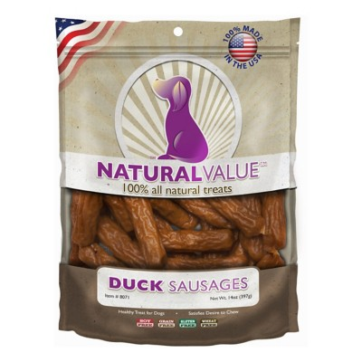 Natural Value Duck Sausage Dog Treat