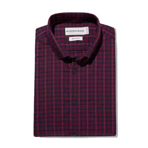 Men's Mizzen and Main Performance Flannel Trim Fit
