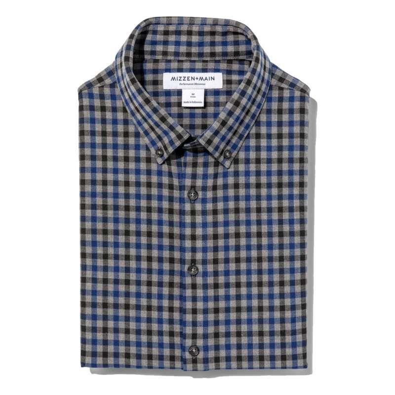 Men's Mizzen and Main City Flannel Long Sleeve Shirt Classic Fit