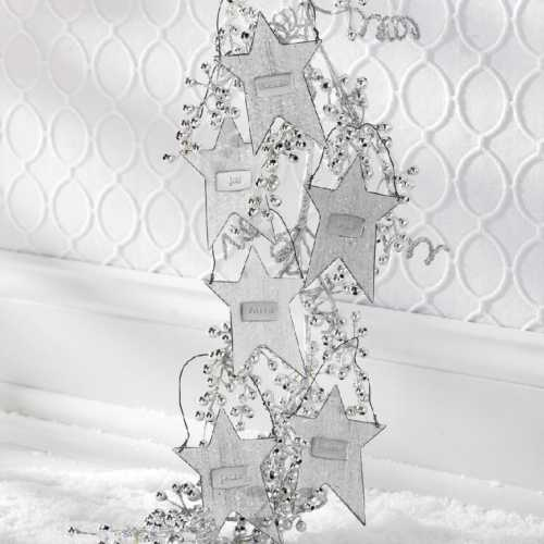 K & K Interiors Assorted Tin Star Message Ornaments