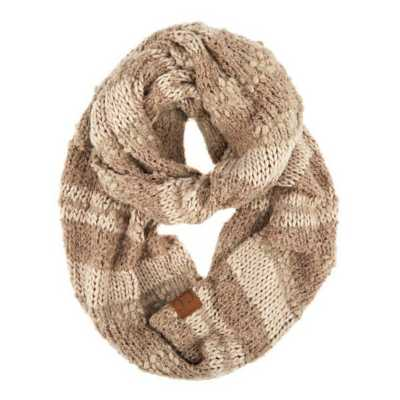 Women's C.C Striped Infinity Scarf