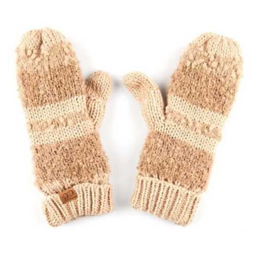 Women's C.C Striped Lined Mittens
