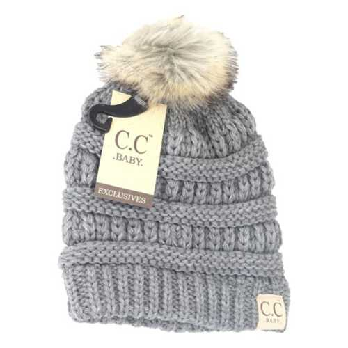 Infant Girls' C.C. Faux Pom Beanie