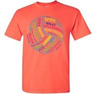 Women's ImageSport Volleyball Ball Words T-Shirt