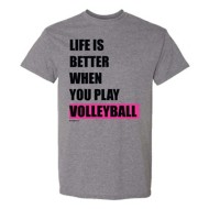 Youth Girls' ImageSport Volleyball Life Is Better Short Sleeve Shirt