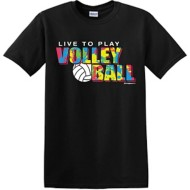 Youth Girls' ImageSport Volleyball Splatter Short Sleeve Shirt
