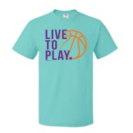 Youth Girls' ImageSport Basketball Live To Play Short Sleeve Shirt