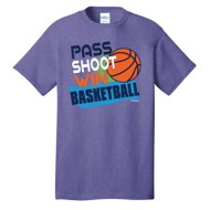 Youth Girls' ImageSport Basketball Pass, Shoot , Win Short Sleeve Shirt