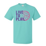 Youth Girls' ImageSport Volleyball Live To Play Short Sleeve Shirt