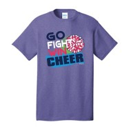 Women's ImageSport Cheer Go, Fight, Win Short Sleeve Shirt