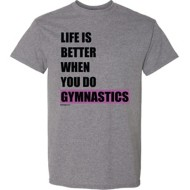 Youth Girls' ImageSport Gymnastics Life Is Better Short Sleeve Shirt