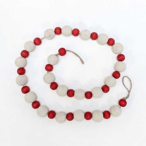 Adams & Co White & Red Bead Garland