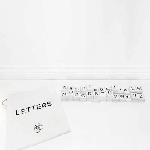 Adams & Co. White Letters-112 Pieces