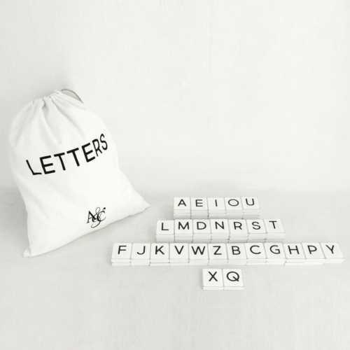 Adams & Co. White Letters-67 Pieces