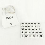 Adams & Co. White Emoji-30 Pieces