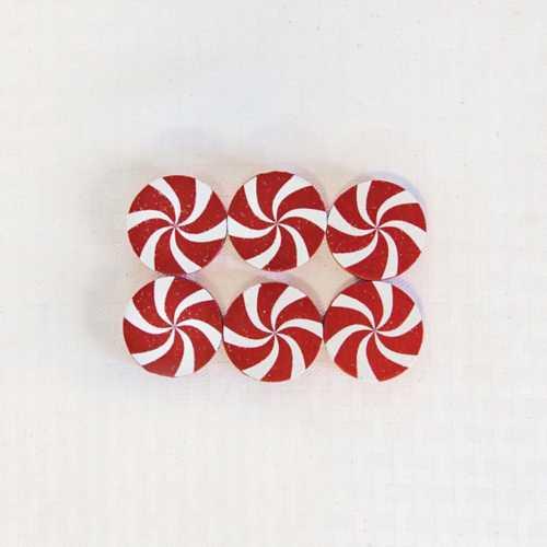 Adams & Co 6 Pc Wood Peppermint Tiles