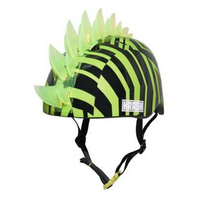 Youth Krash Dazzle Geen LED Helmet