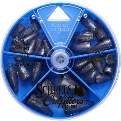 Scheels Outfitters Worm Weight Sinker Dial Box