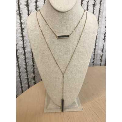 Women's Accessorize Me Wood Pendant Necklace
