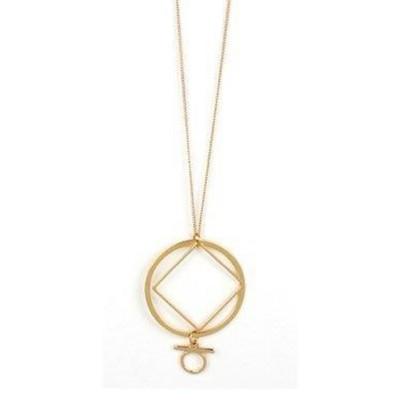 Women's Accessorize Me Gold Drop Pendant Necklace