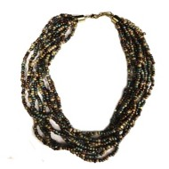 Women's Accesorize Me Layered Seed Bead Necklace