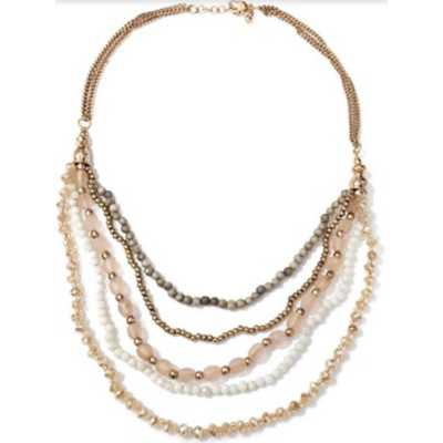Women's Accessorize Me Multi Layer Bead Necklace