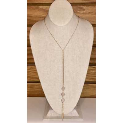 Women's Accessorize Me Triple Round Pink Stone Necklace