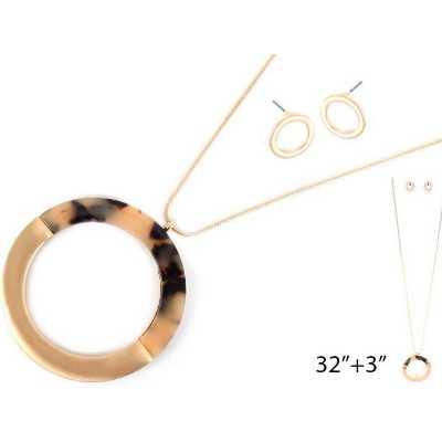 Women's Accessorize Me Necklace & Earring Set Long Circle
