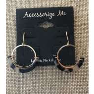 Women's Accessorize Me Turtoise Hoop Earring