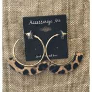 Women's Accessorize Me Animal Print Hoop Earring