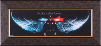 Art Effects No Greater Love Police Petite Print