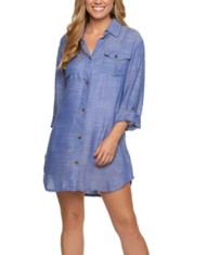Women's Dotti Shirt Dress On Island Time Cover-Up