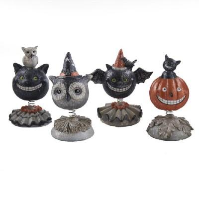 K & K Interiors Assorted Halloween Bobble Heads