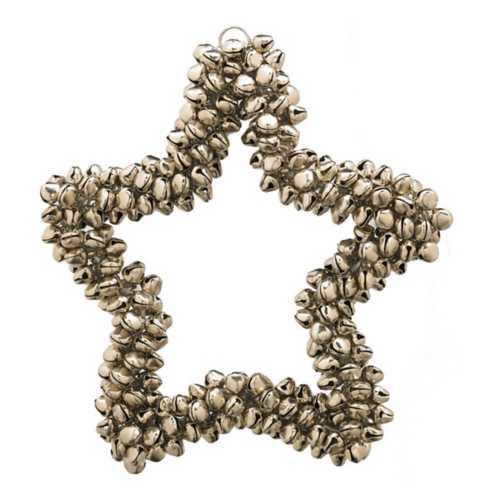 "K&K Interiors 5"" Mini Jingle Bell Star Ornament"
