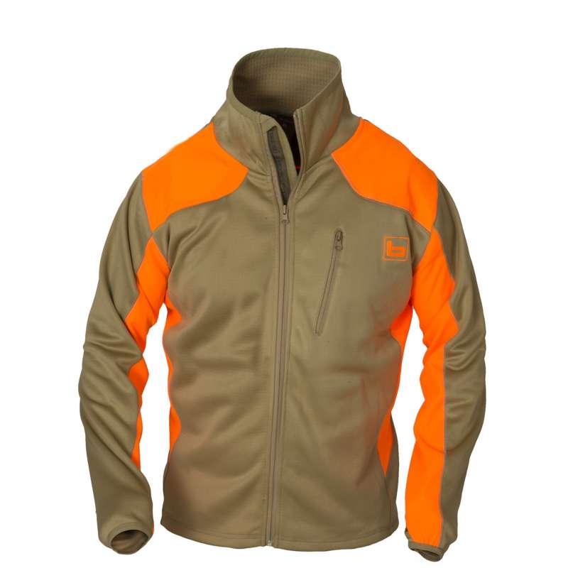 Men's Banded Upland Soft Shell Full Zip Blaze Orange Jacket